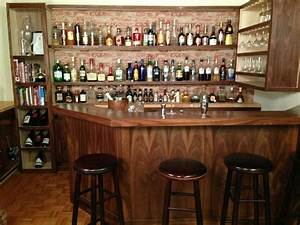 quirky home bar wall decor with classic wooden barstools With bar wall decor