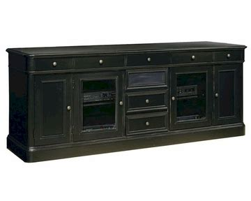Tv Credenza Black by Hekman Black 88in Entertainment Credenza He 81442