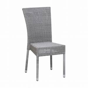 Chaise Resine Tressee : chaise de jardin en aluminium et r sine tress e brin d 39 ouest ~ Nature-et-papiers.com Idées de Décoration