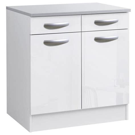 meuble cuisine blanc meuble bas de cuisine blanc laqué cuisine idées de