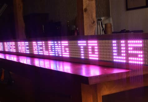 diy massive arduino powered led scrolling sign video