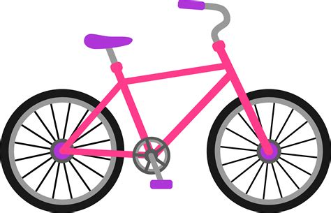 Bicycle Clip Pink And Purple Bicycle Free Clip