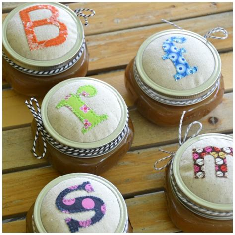 decorating jars with fabric appliqu 233 jar lids fabric jar lid covers