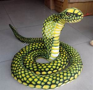 "110""/2.8m Stuffed Animal Emulational Anaconda Green Snake ..."