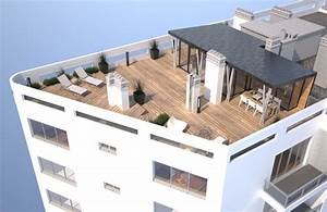 architectes pariscom amenagement d39un toit terrasse With amenagement terrasse de toit