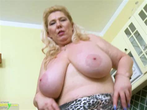 Oldnanny Busty Mature Masturbation In The Kitchen Free