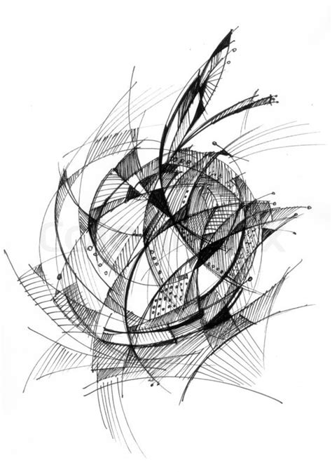 Abstract Black Ink by Abstract Drawing Black Ink With Stock Image
