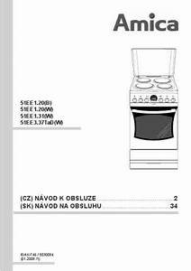 Amica 51ee1 20 W Cooker   Stove Download Manual For Free