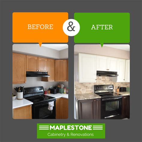 reface kitchen cabinets before and after before after osgoode kitchen maplestone cabinetry