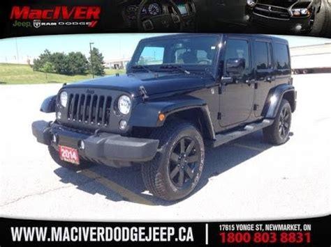 black jeep 4 door 2014 black jeep wrangler altitude 4 door newmarket ontario