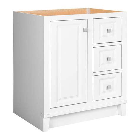 glacier bay kinghurst 30 in w x 21 in d x 33 5 in h bath vanity cabinet only in white khw30d