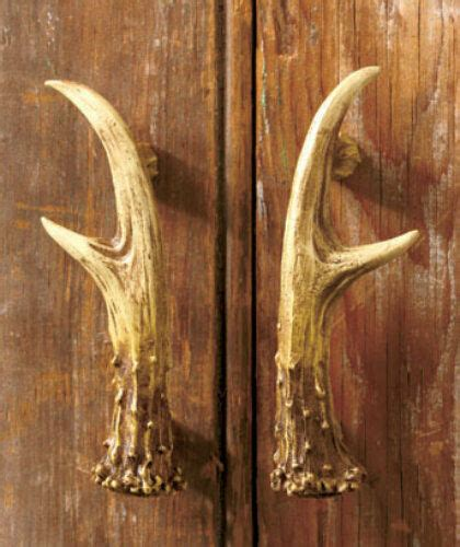 Deer Cabinets by Set Of 2 Rustic Deer Antler Cabinet Door Pull Handle Lodge