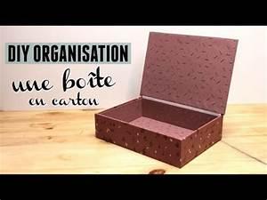 Fabriquer Une Boite En Carton Avec Couvercle : diy une jolie bo te en carton avec couvercle youtube ~ Melissatoandfro.com Idées de Décoration