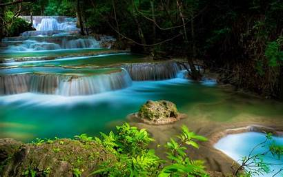 Waterfall Tropical Wallpapers Water Thailand Cascades Trees