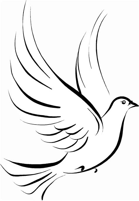 Dove Clipart Cross And Dove Clipart Clipart Kid Tatoos