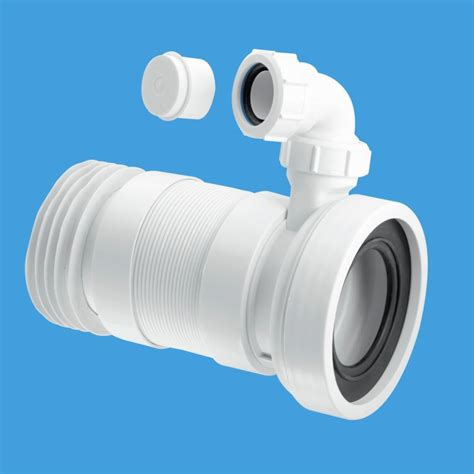 mcalpine 410mm wc pan connector with basin inlet plumbers mate ltd