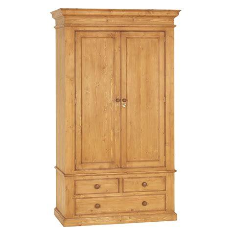 armoire 2 portes 3 tiroirs naturel interior s