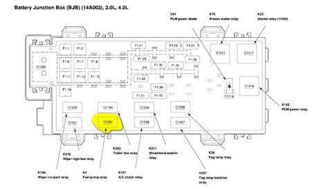 2002 Ford Ranger V6 Fuse Diagram by Where Is The Location Of My Fuel Realy For My 2002