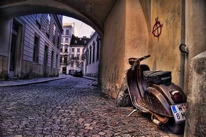 Italy Vienna Street Wallpapers Scooter Austria Vespa