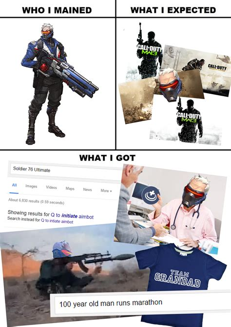 Soldier 76 Memes - basically soldier 76 what i watched what i expected what i got know your meme