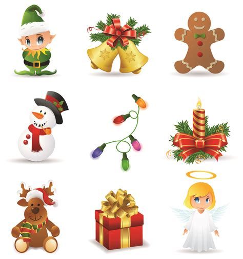 christmas icons pictures   clip art
