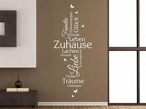 Zuhause Im Glück Badezimmer : wandtattoo zuhause familie liebe gl ck bei ~ Watch28wear.com Haus und Dekorationen
