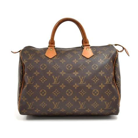 louis vuitton speedy vintage  city handbag brown monogram canvas hobo bag tradesy