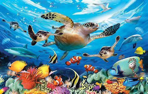 journey   sea turtles  pieces sunsout puzzle