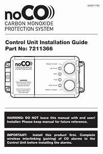 Control Unit Installation Guide Part No  7211366