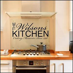 personalised kitchen wall sticker decals kitchen With kitchen cabinets lowes with wall art decals quotes