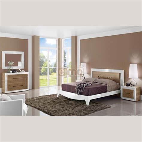 chambre adulte design moderne commode design moderne noyer et laque 4 tiroirs luxor
