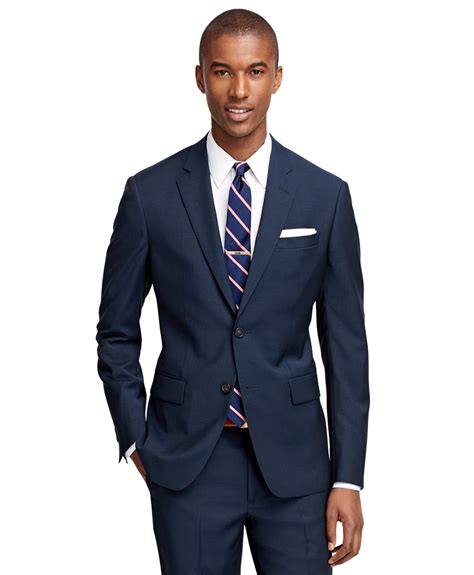 brooks brothers milano fit navy  suit  blue  men