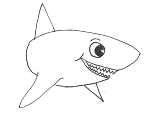 draw sharks  cartoon shark drawing lesson
