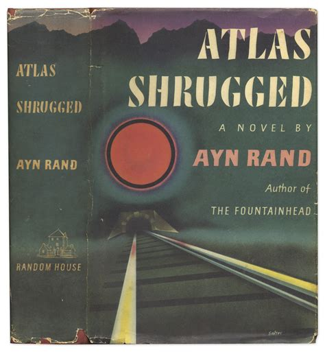 lot detail ayn rand signed edition of atlas shrugged