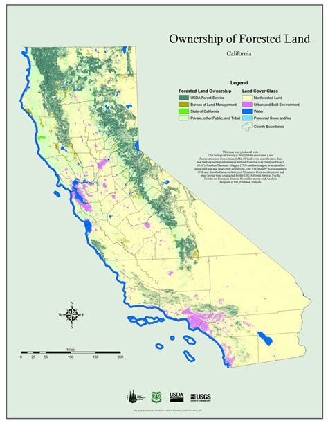 Service California by Maps Pnw Research Station Usda Forest Service