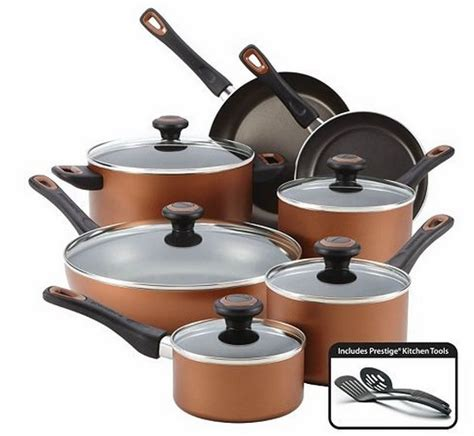 farberware cookware kohls pc kohl pots pans sets nonstick 14pc rebates cash copper deal cyber mylitter