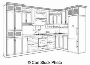 kueche clip art und stock illustrationen 109242 kueche With kitchen colors with white cabinets with free printable nursery wall art