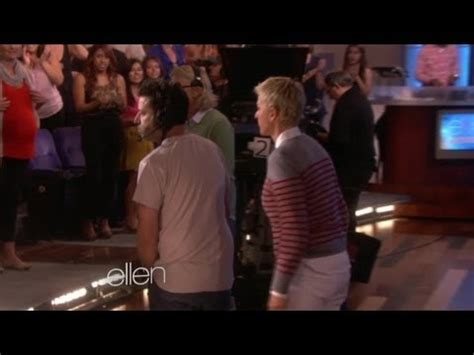 scares andy exclusive ellen scares andy during a break youtube