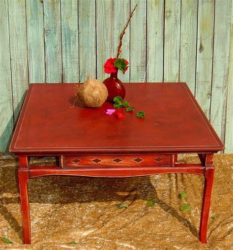 599.39 kb, 1024 x 683. VINTAGE COFFEE TABLE - Or Side Table Painted Red Distressed Oriental Rustic Primitive Modern ...