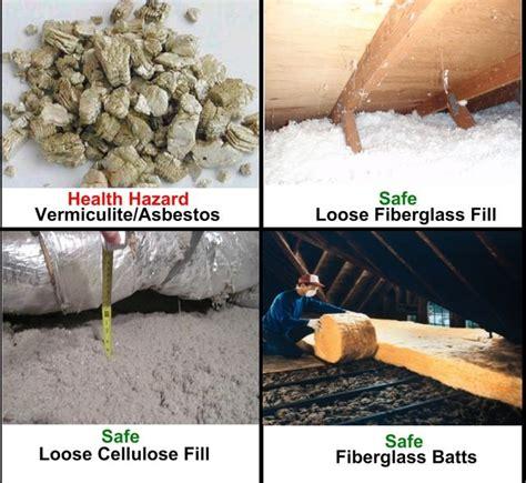asbestos insulation   attic rooms