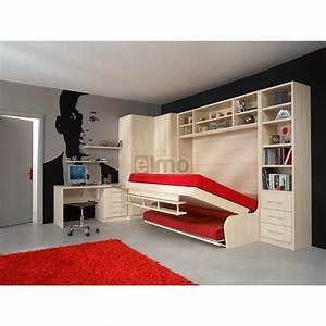 Lit Avec Rangement 140x190 : lit 140x190 avec rangement ~ Teatrodelosmanantiales.com Idées de Décoration