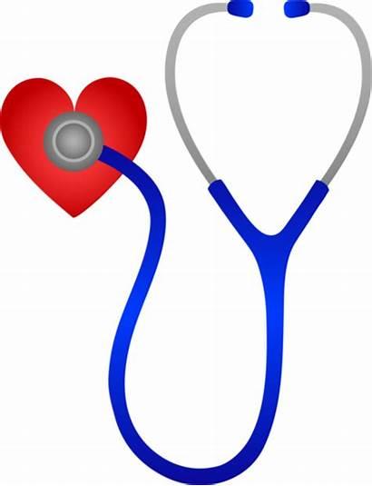 Stethoscope Heart Clip Beat Listening Medical Clipart