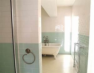 carrelage salle de bain vert eau With carrelage salle de bain vert