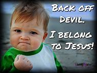 Christian Funny Back Off Devil