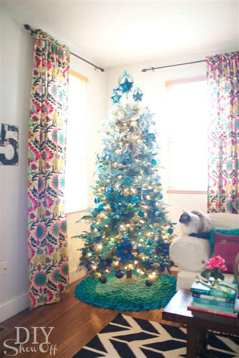 michaels dream tree challenge ombre christmas tree diy