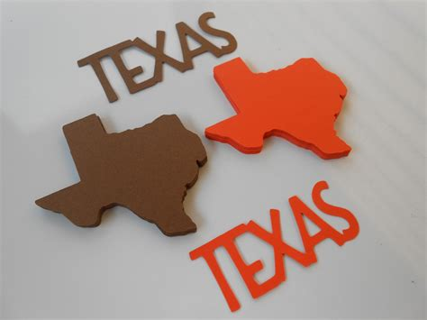 50 Texas State Shapes. Choose Your Colors. 4 Inch. Escort