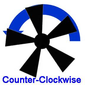 ceiling fan blowing counter clockwise to cool a room