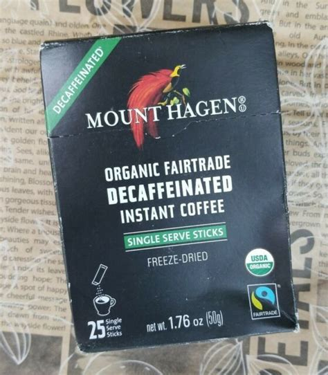 This favourable location and high altitude combine for untreated coffee beans with exceptional quality. Mount Hagen Organic Fairtrade Decaffeinated Instant Coffee 25 Single Serve for sale online | eBay