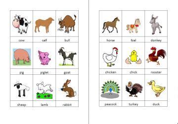 farm animals pictures for preschool 604 | wordcards farm animals color