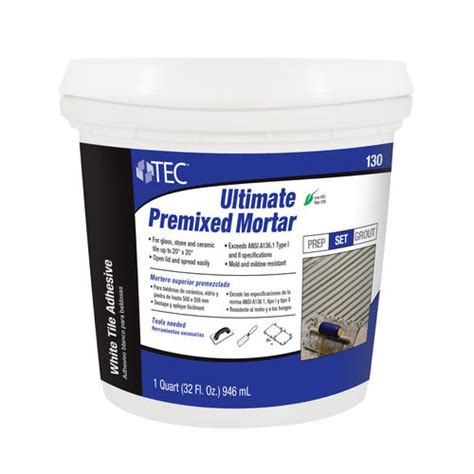 Premixed Thinset For Glass Tile by Tec 174 Ultimate Premixed Mortar 1 Qt At Menards 174